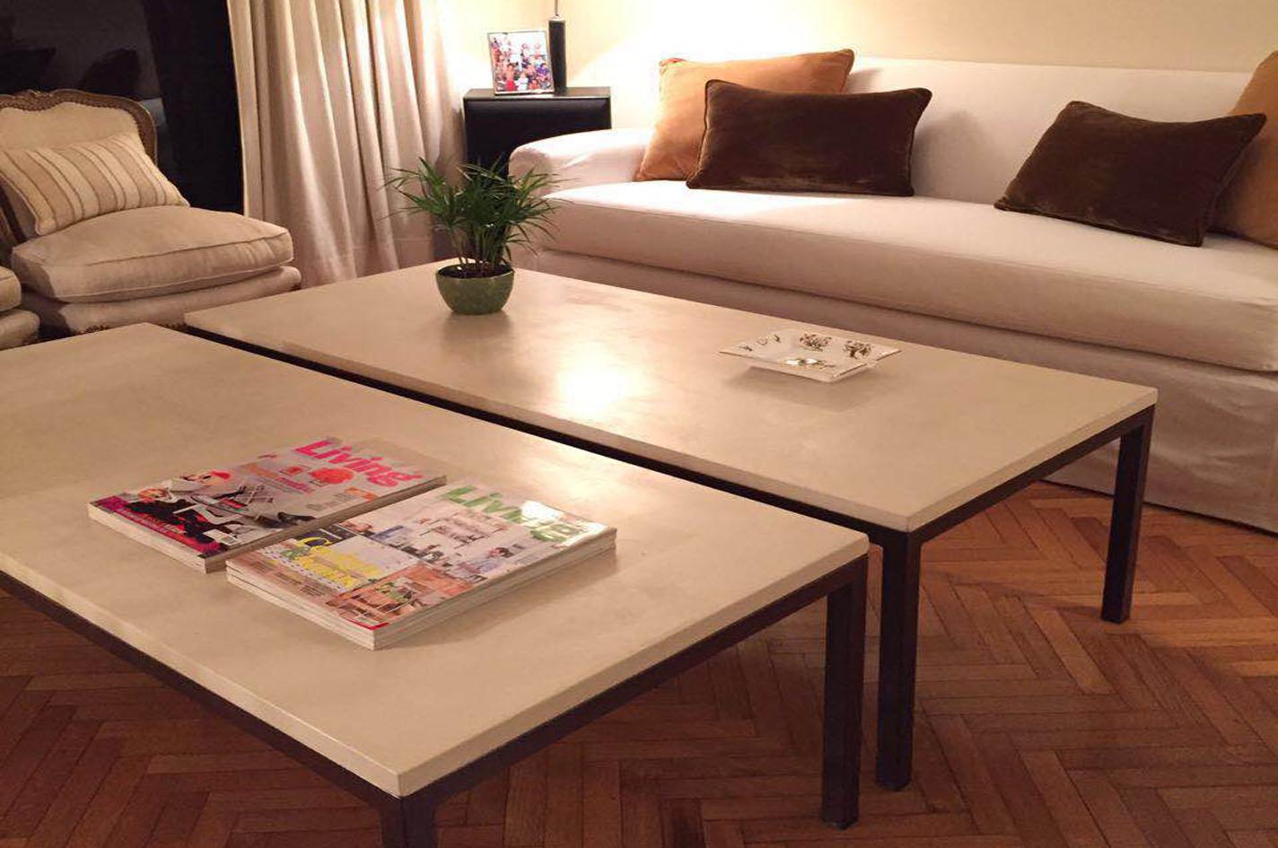 Muebles de cemento alisado y microcemento for Muebles microcemento